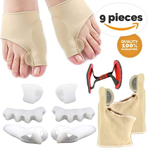 4. 9 PCS Bunion Corrector Sleeves Kits, Best Bunion Corrector, Toe Spacers