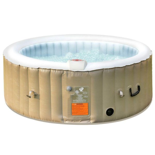 7. Goplus 4-6 Person Outdoor Spa Inflatable Hot Tub for Portable Jets Bubble Massage Relaxing