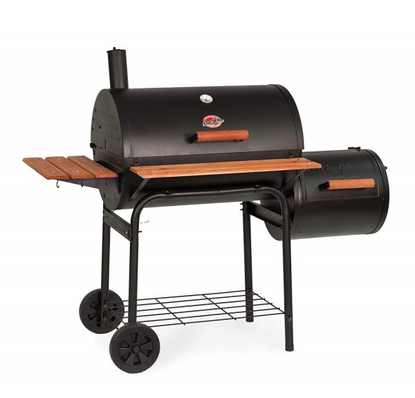 8. Char-Griller 1224 Smokin Pro 830 Square Inch Charcoal Grill with Side Fire Box