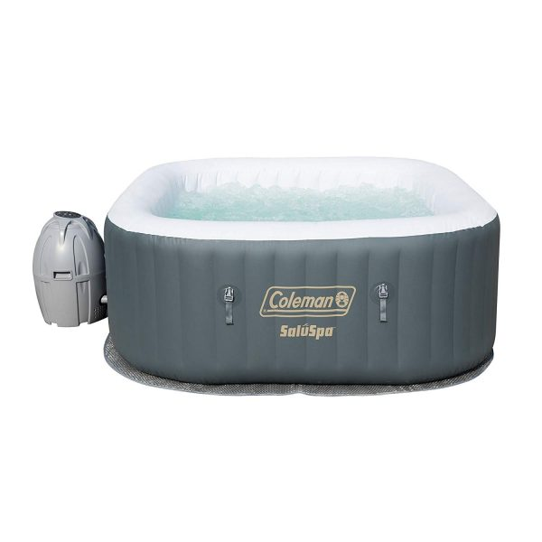 8. Coleman SaluSpa Inflatable AirJet Hot Tub, Gray