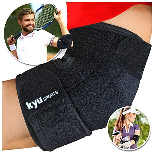 8. KYUSport Adjustable Neoprene Tennis Golfers Elbow Brace Wrap Arm Support Strap Band