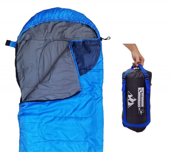 8. Lightweight For Camping, Backpacking, Travel by OutdoorsmanLab- Kids Men Women 3-4 Season Ultralight Compact Packable bags with Compression Sack
