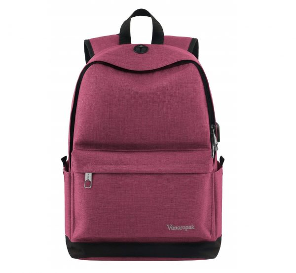 8. Student Backpack for Women, College High School Laptop Backpack with Charger for Men Girls Boys