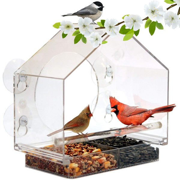 8. Window Bird Feeder by Nature Anywhere