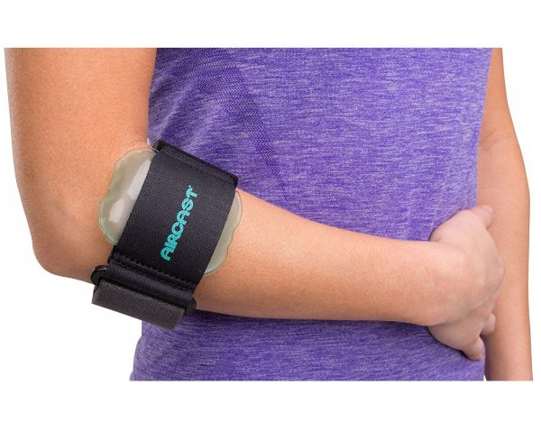 9. Aircast Pneumatic Armband Tennis or Golfers Elbow Support Strap, One Size Fits Most