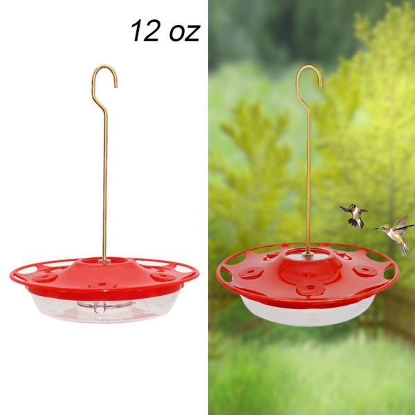 9. Juegoal 12 oz Hanging Hummingbird Feeder