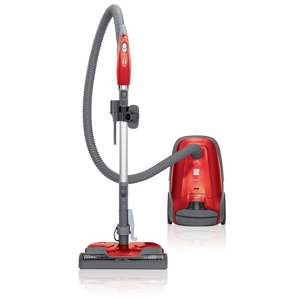 9. Kenmore 81414 400 Series Bagged Canister Vacuum Cleaner in Red