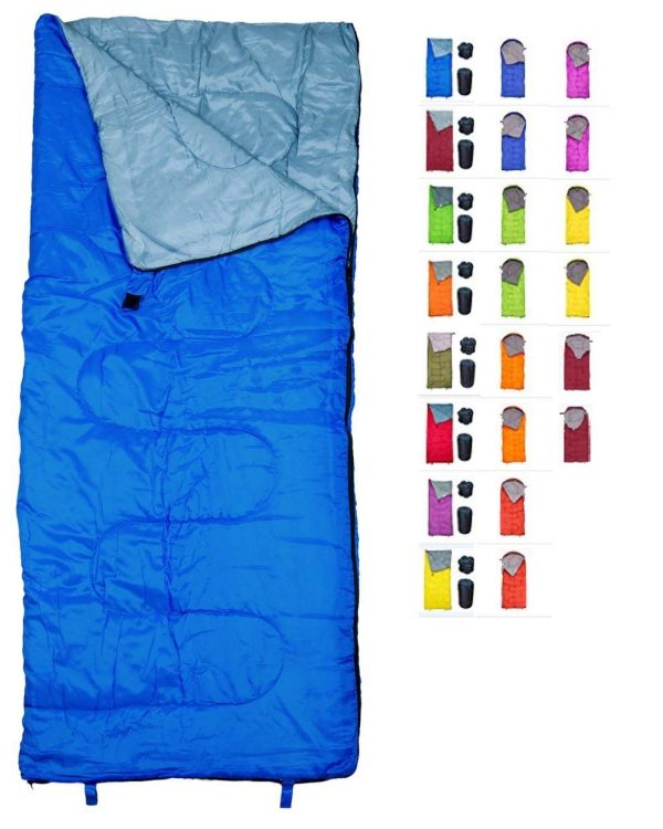 9. REVALCAMP Sleeping Bag Indoor & Outdoor Use. Great for Kids, Boys, Girls, Teens