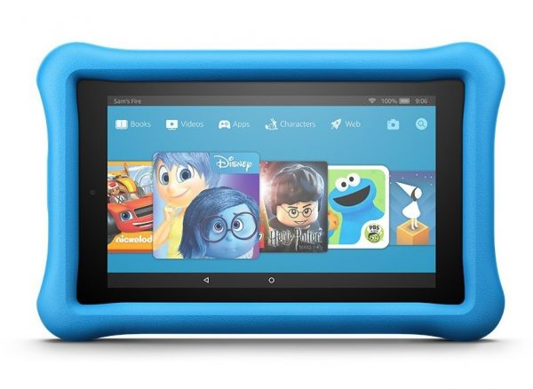 1. Fire 7 Kids Edition Tablet, 7 Display, 16 GB, Blue Kid-Proof Case