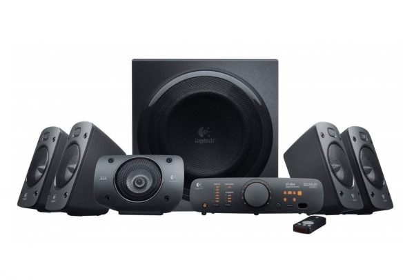 1. Logitech Z906 5.1 Surround Sound Speaker System - THX, Dolby Digital and DTS Digital Certified