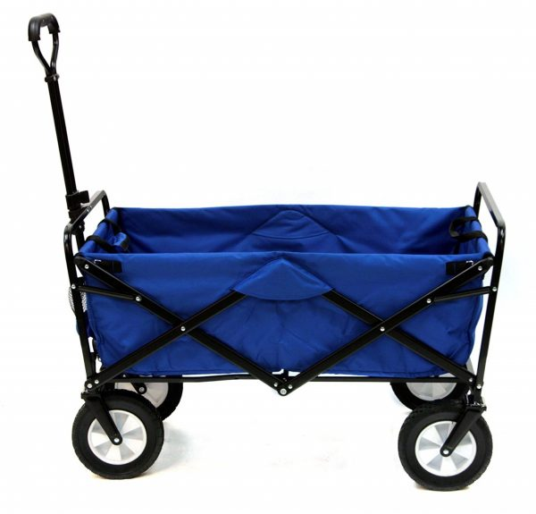 1. Mac Sports Collapsible Folding Outdoor Utility Wagon, Blue