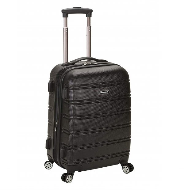 1. Rockland Luggage Melbourne 20 Inch Expandable Abs Carry On Luggage, Black, One Size