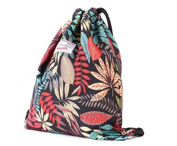 10. Drawstring Backpack Original Tote Bags for Gym Hiking Travel Beach 2 Sizes