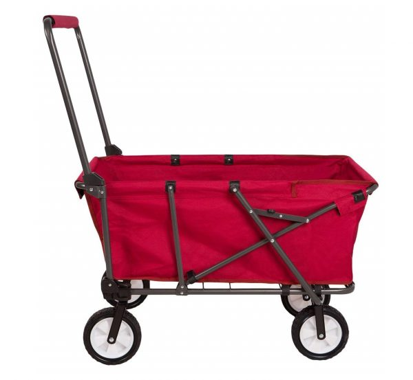 10. REDCAMP Collapsible Wagon Cart, Canvas Folding Utility Wagon All Terrain Outdoor Sports