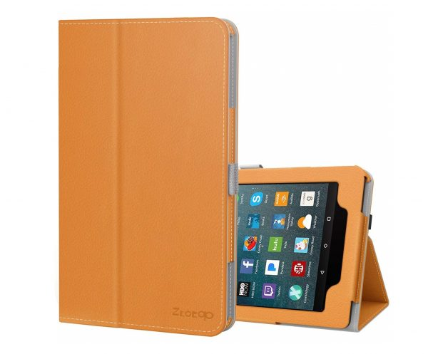 10. Ztotop Folio Case for All-New Amazon Fire 7 Tablet