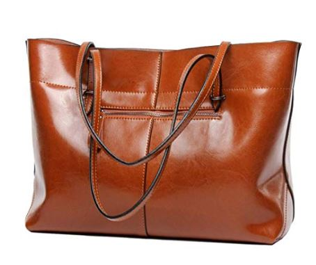 2. Covelin Women's Handbag Genuine Leather Tote Shoulder Bags Soft Hot