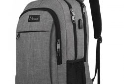 2. Travel Laptop Backpack,Business Anti Theft Slim Durable Laptops Backpack with USB Charging Port