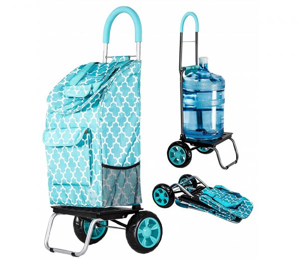 2. Trolley Dolly, Moroccan Tile Shopping Grocery Foldable Cart