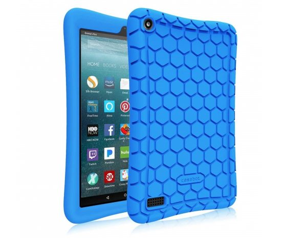 3. Fintie Silicone Case for all-new Amazon Fire 7 Tablet