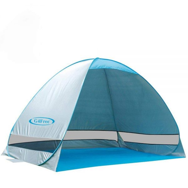 3. G4Free Outdoor Automatic Pop up Instant Portable Cabana Beach Tent 2-3 Person Fishing Anti UV Beach Tent Beach Shelter, Sets up in Seconds
