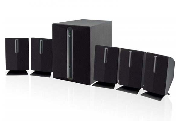 3. GPX HT050B 5.1 Channel Home Theater Speaker System (Black)