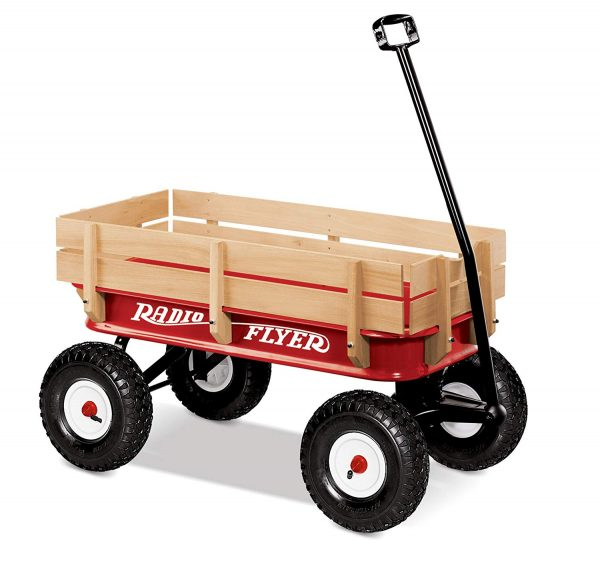 3. Radio Flyer Full Size All-Terrain Steel & Wood Wagon