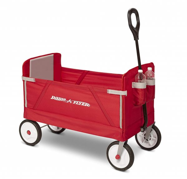 4. Radio Flyer 3-in-1 EZ Folding Wagon for kids and cargo
