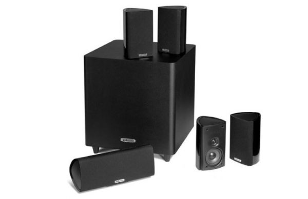 5. Polk Audio RM705 5.1 Home Theater System (Set of Six, Black)