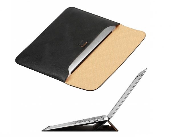 6. MacBook Air 13 inch Sleeve Case with Stand, OMOTON Laptop Case Sleeve for MacBook Air 13 inch, Slim Carrying Bag with Stand,Black