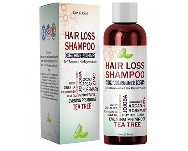 7. Best Hair Loss Shampoo Potent Hair Loss Fighting Formula 100% Natural Topical Regrowth Treatment Restores Hair Stops