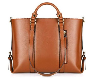 7. Kattee Urban Style 3-Way Women's Genuine Leather Shoulder Tote Bag