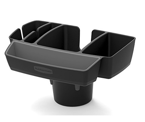 7. Rubbermaid Automotive Cup Holder Car Storage Organizer Caddy, Deluxe