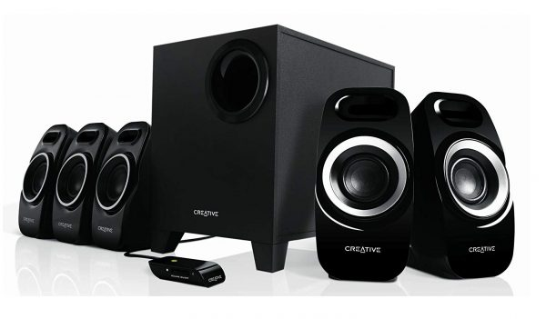 8. Creative Inspire T6300 51MF4115AA002 5.1 Channel 22 Watt Subwoofer Speaker System