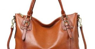 8. Kattee Women's Vintage Genuine Leather Tote Shoulder Bag