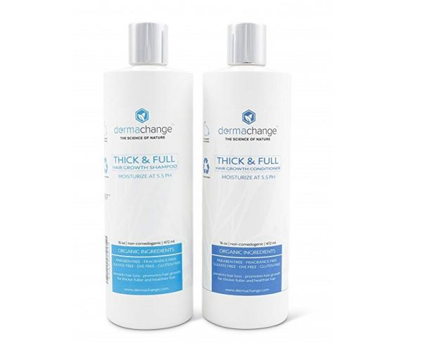 8. Organic Vegan Natural Hair Growth Shampoo and Conditioner Set