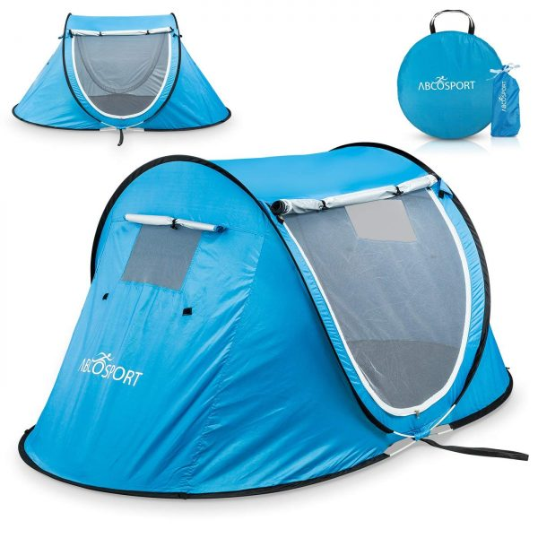 9. Pop-up Tent An Automatic Instant Portable Cabana Beach Tent - Suitable For upto 2 People - Doors on Both Sides - Water-resistant
