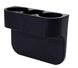 9. ROSY007 Drink Holder coffee Console Side Pocket with pen hole,Auto Front Seat Organizer Car Console and Seat Gap Cup