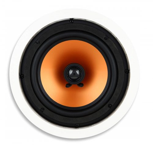 1. Micca 8 Inch Ceiling Speaker with Pivoting 1 Silk Dome Tweeter (Each, White)