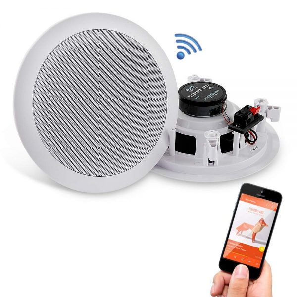 10. BUniversal Home Speaker System Spring Loaded Quick Connections Polypropylene Cone Polymer Tweeter Stereo Sound 200 Watts (PDICBT652RD)