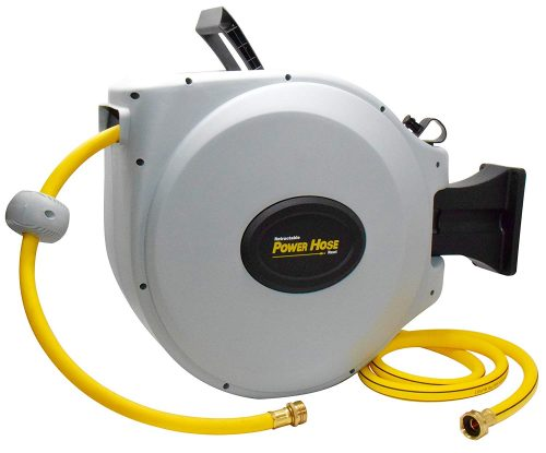10. Power Retractable Hose Reel, Super Heavy Duty, 500 PSI Burst Strength, 3 Layer Hybrid Hose
