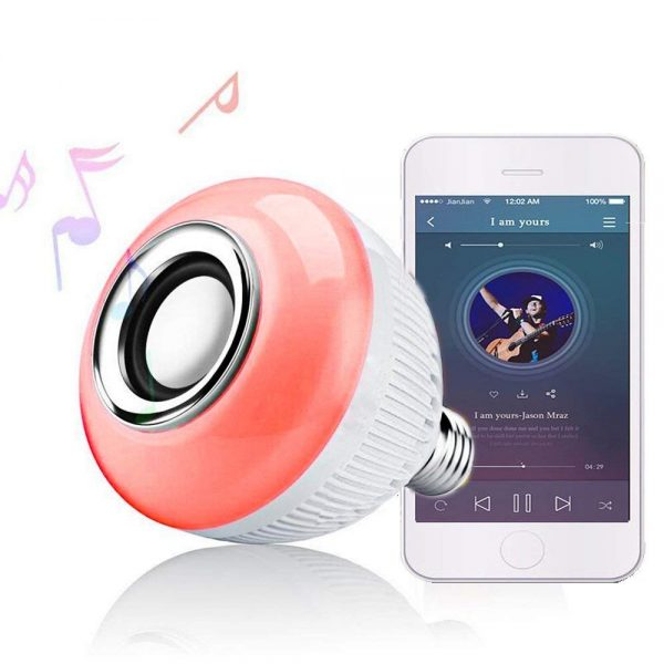 10. RAYWAY Bluetooth Speaker LED Light Bulb - 16 Multi Color Changing Music Bulb