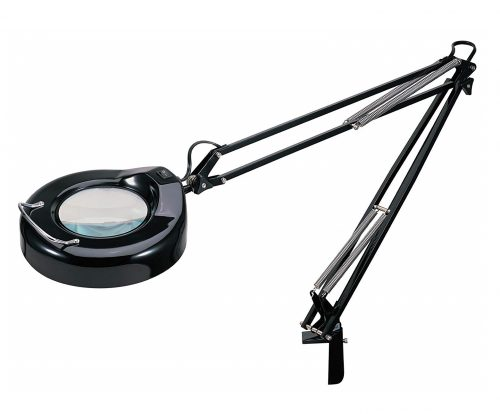 10. V-LIGHT Magnifying Lamp Task Lamp, Black (VS103B5)