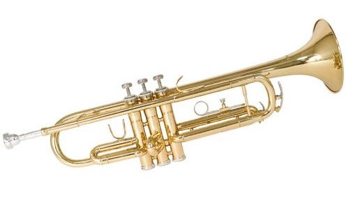 2. Mendini MTT-L Gold Lacquer Brass Bb Trumpet + Tuner, Case, Stand, Mouthpiece, Pocketbook & More