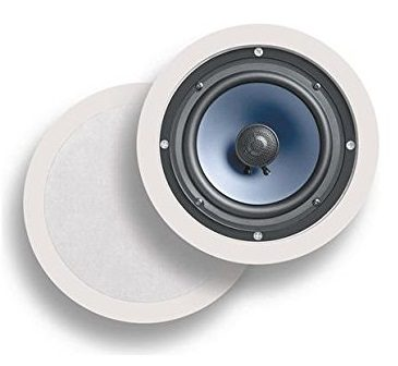2. Polk Audio RC60i Premium 6.5 Round Speakers, Set of 2 Perfect for Damp and Humid Indoor