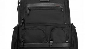 2. Tumi Alpha 2 Compact Laptop Brief Pack, Black, One Size