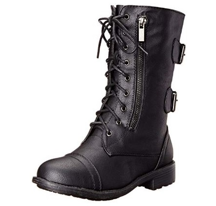 3. Top Moda Women's Pack-72 Lace Up Combat Boot