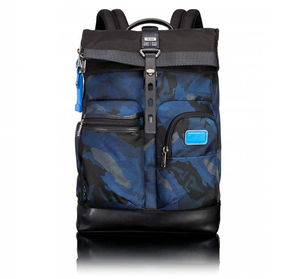 3. Tumi Alpha Bravo Kirtland Continental Expandable Carry-on, Blue Camo