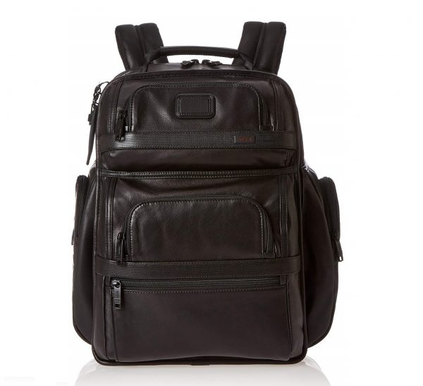 4. TUMI - Alpha 2 Tumi T-Pass Business Class Leather Brief Pack - Black
