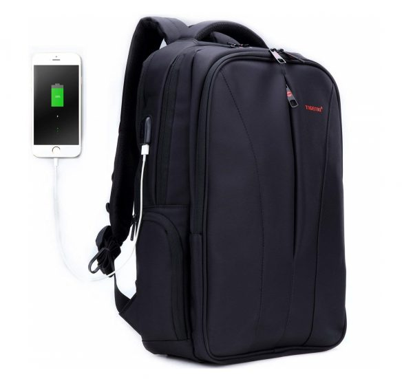 5. Business Slim Laptop Backpack for Women & Men, Anti Theft Travel Computer Bag with USB Charging Port Fits