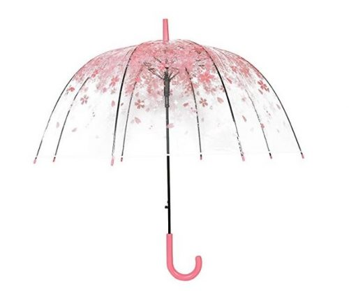 5. Transparent Clear Bubble Dome Umbrella for Wind and Heavy Rain